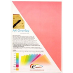 Keytools Crossbow Education A4 Overlay 5 pack: Pink. Designed to support users with scotopic sensitivity; Irl