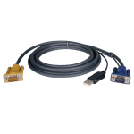 Tripp Lite USB (2-in-1) Cable Kit for NetDirector KVM Switch B020-Series and KVM B022-Series, 5.79 m (19-ft.)