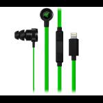 Razer Hammerhead In-ear Binaural Wired Black, Green mobile headset