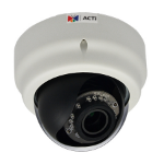 ACTi E65 IP security camera Indoor Dome Black,White security camera