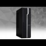 Acer Veriton X X2660G i3-8100 Desktop 8th gen Intel® Core™ i3 8 GB DDR4-SDRAM 256 GB SSD Windows 10 Pro PC Black