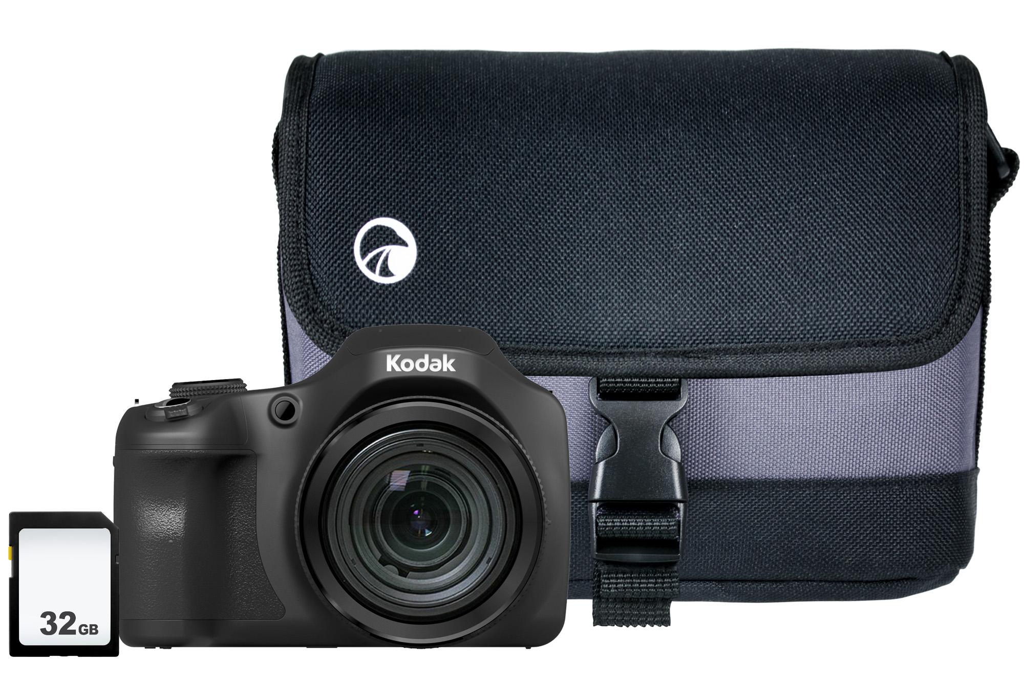 Kodak PIXPRO AZ652 Bridge Camera Kit inc 32GB SD Card & Case