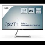 """AOC Style-line Q27T1 computer monitor 68.6 cm (27"""") 2560 x 1440 pixels Quad HD LED Flat Silver"""