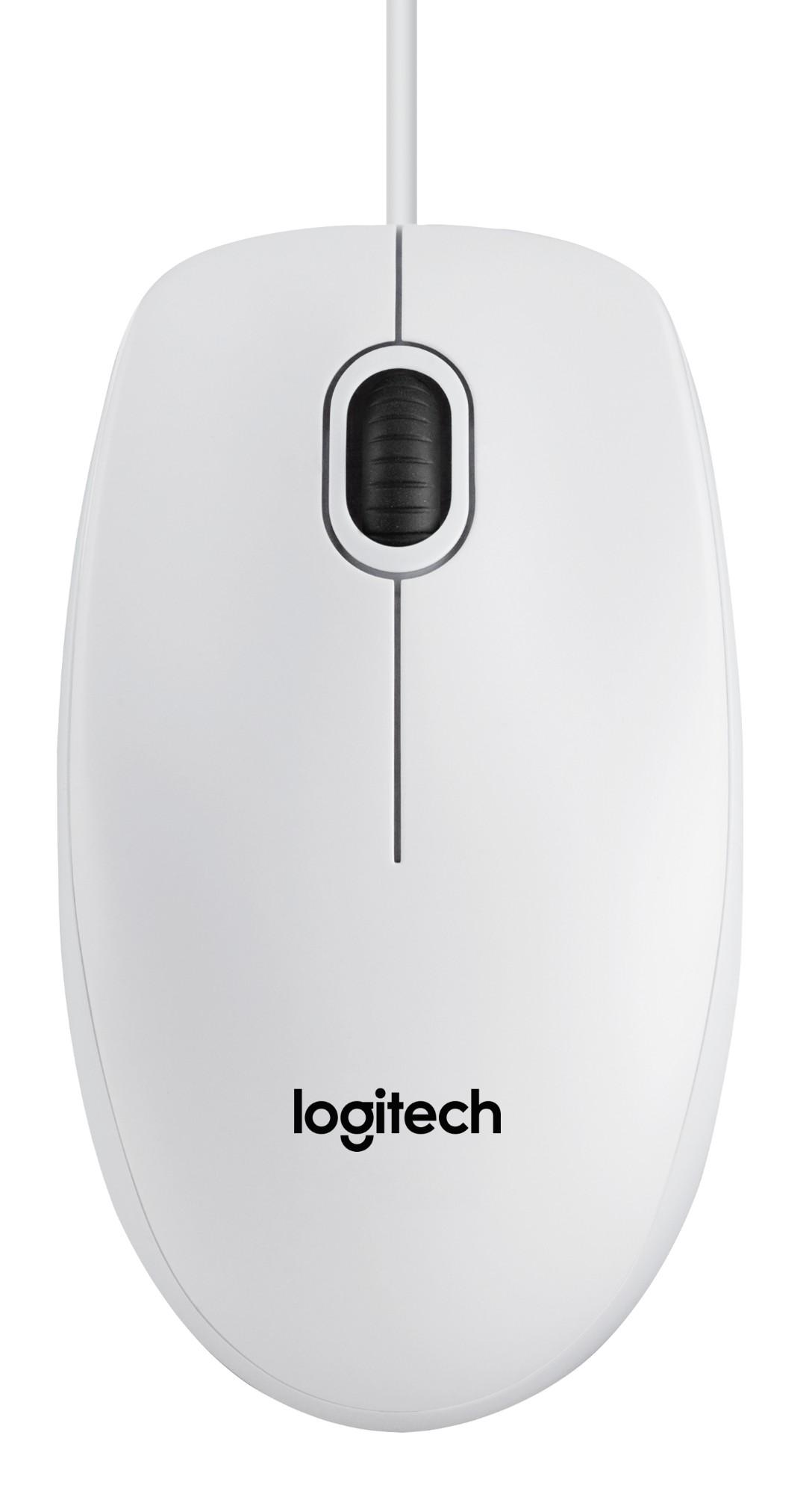 Logitech B100 ratón USB Óptico 800 DPI Ambidextro
