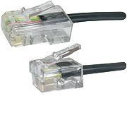 Microconnect MPK451S telephone cable 1 m Black