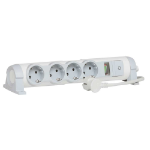 C2G 80829 Indoor 4AC outlet(s) 3m Grey,White power extension