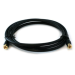 "Monoprice 3031 coaxial cable 72"" (1.83 m) F RG-6/U Black"