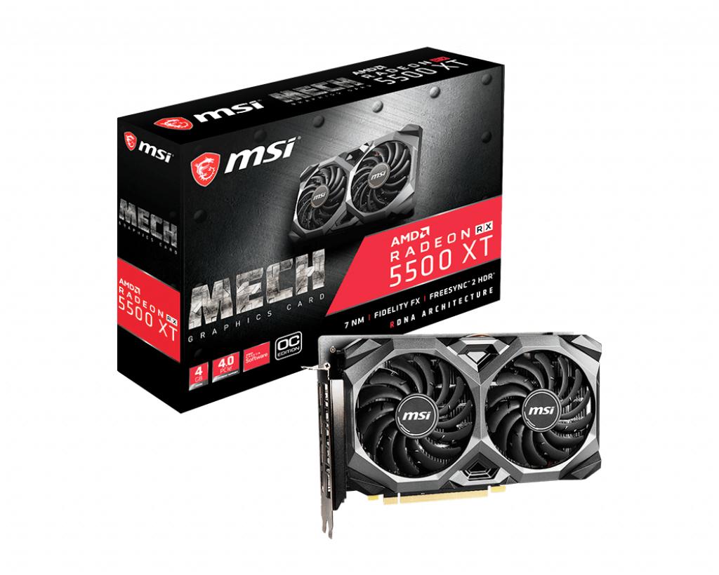 MSI RX 5500 XT MECH AMD Radeon RX 5500 XT 4 GB GDDR6