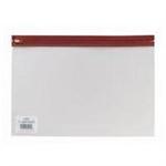 Snopake Zippa Bag A5 Red Polypropylene (PP)