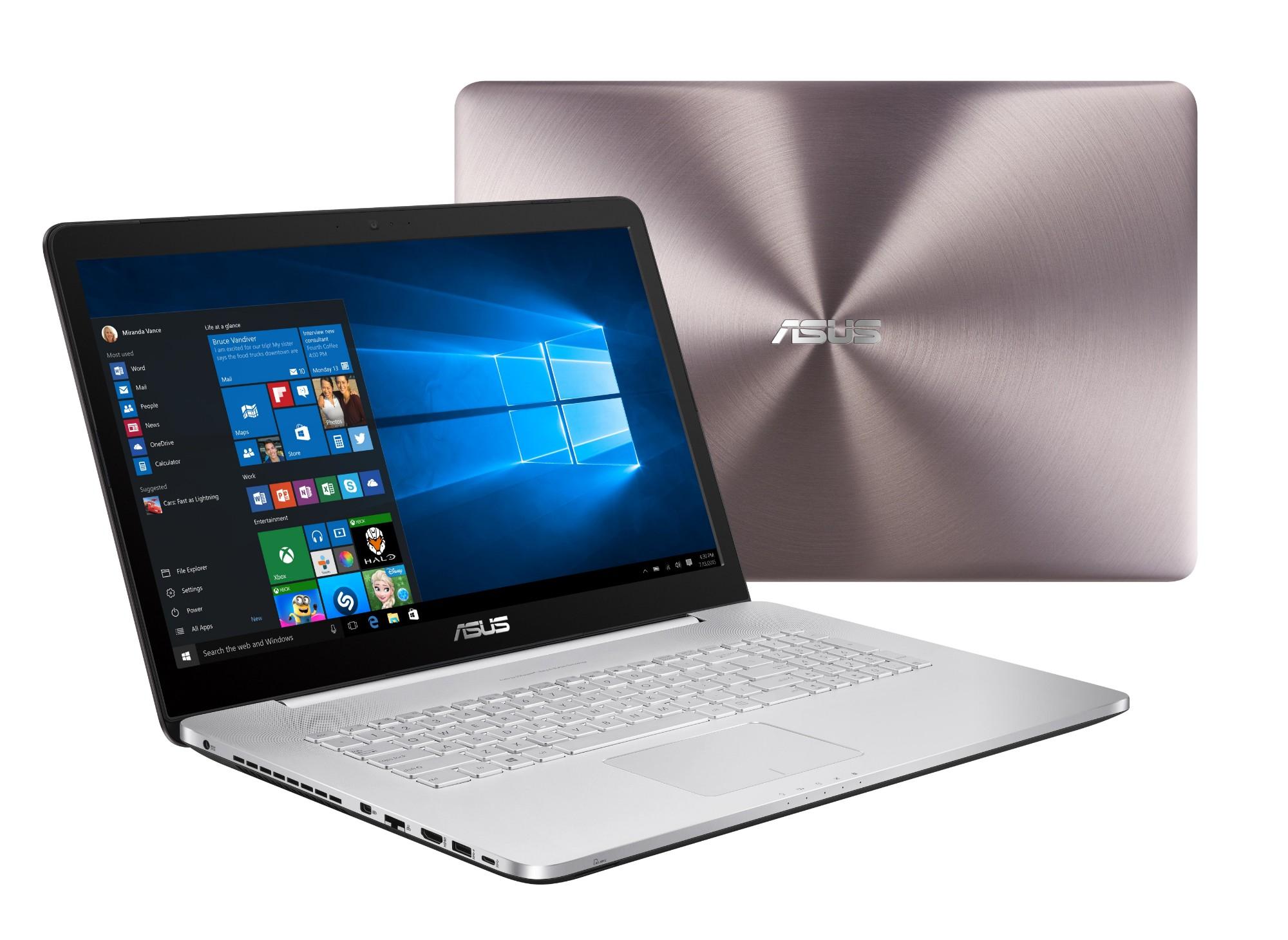 """ASUS VivoBook Pro N752VX-GC322T 2.3GHz i5-6300HQ 17.3"""" 1920 x 1080pixels Grey,Aluminium Notebook"""