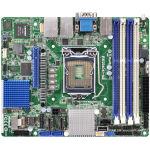 Asrock E3C224D4I-14S Intel C224 LGA 1150 (Socket H3) Mini-ITX server/workstation motherboard