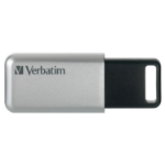 Verbatim Secure Pro 64GB USB 3.0 (3.1 Gen 1) USB Type-A connector Black, Grey USB flash drive