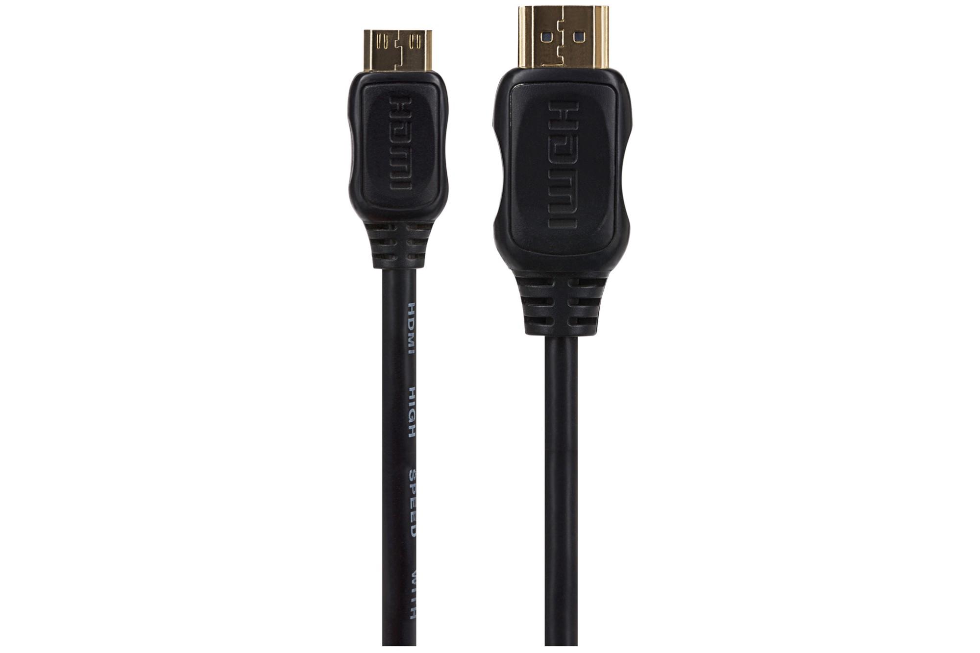 MAPLIN Premium HDMI to Mini HDMI Cable - Black, 1m