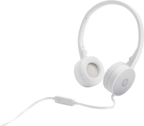 HP H2800 Headset Head-band Silver,White