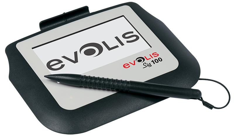 """Evolis SIG100 10.2 cm (4"""") LCD White, Black"""