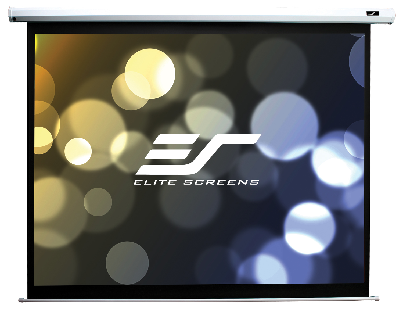 Elite screens electric84v 84 4 3 white projection screen for Black diamond motorized screen price