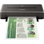 Canon PIXMA iP110 A4 Inkjet Printer, 9ipm Mono, 5.8 ipm Colour, 9600 x 2400 dpi, 1 Year RTB Warranty