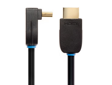 Techlink NX2 Right Angled HDMI A Plug to HDMI A Plug HDMI cable 3 m HDMI Type A (Standard) Black