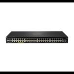 Hewlett Packard Enterprise Aruba 2930F 48G PoE+ 4SFP+ 740W Managed L3 Gigabit Ethernet (10/100/1000) Power over Ethernet (PoE) 1U Black