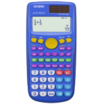 Casio FX-55PLUS Pocket Scientific calculator Blue calculator