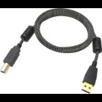 Vision TC 1MUSB/HQ USB Kabel 1 m 2.0 USB A USB B Schwarz, Weiß