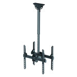"Newstar TV/Monitor Ceiling Mount for Dual 32""-60"" Screens (Back to Back), Height Adjustable - Black"