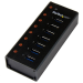 StarTech.com 7-Port USB 3.0 Hub - Desktop or Wall-Mountable Metal Enclosure