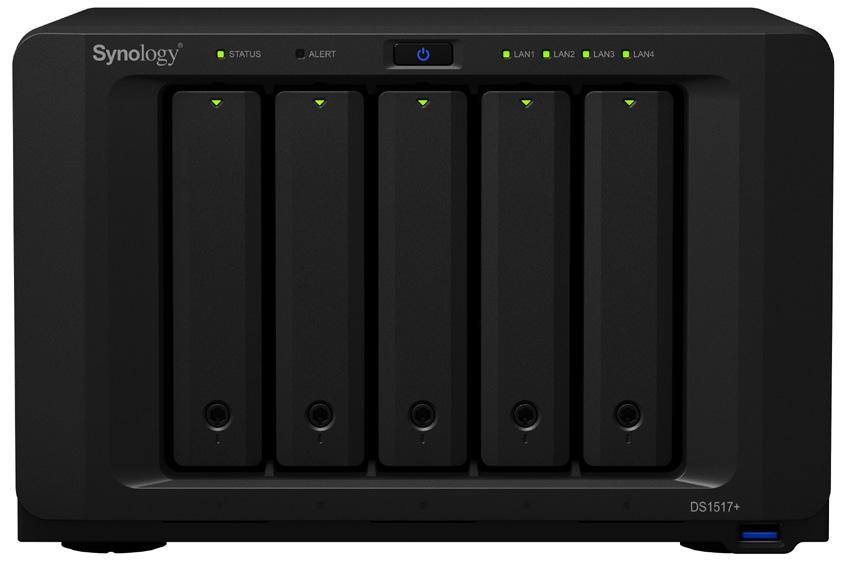 Synology DS1517+ NAS Desktop Ethernet LAN Black