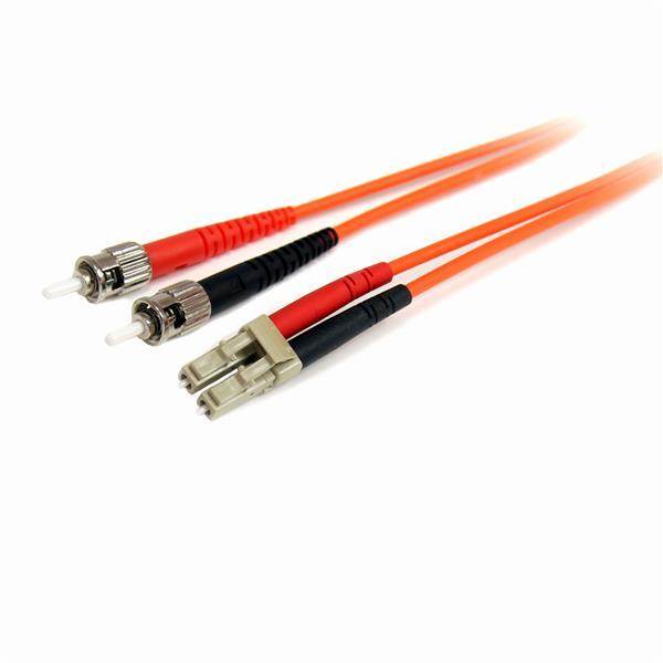 StarTech.com Cable Adaptador de Red de 2m Multimodo Dúplex Fibra Óptica LC-ST 62,5/125 - Patch Duplex