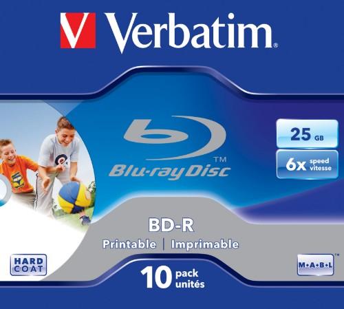 Verbatim BD-R SL 25GB 6x Printable 10 Pack Jewel Case 10 pc(s)