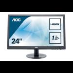 AOC Essential-line E2460SH PC Flachbildschirm 61 cm (24 Zoll) 1920 x 1080 Pixel Full HD LCD Schwarz