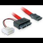 DeLOCK Cable SATA Slimline female + 2pin power > SATA SATA cable 0.3 m Red