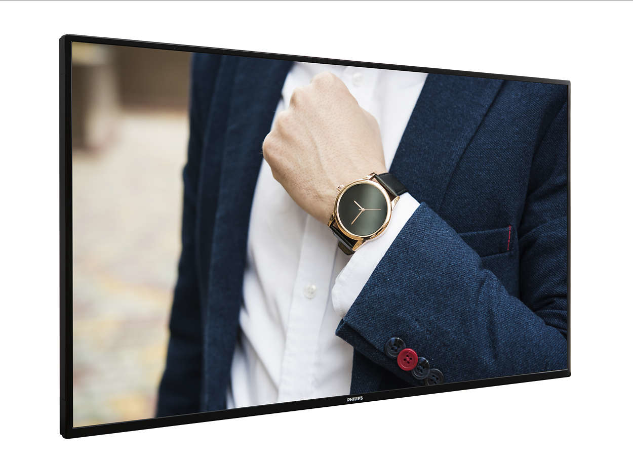 "Philips 49BDL4051D/00 pantalla de señalización 123,2 cm (48.5"") LED Full HD Negro"