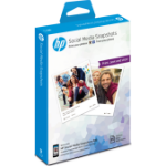 HP Social Media Snapshots Removable Sticky -25 sht/10 x 13 cm photo paper White Semi-gloss