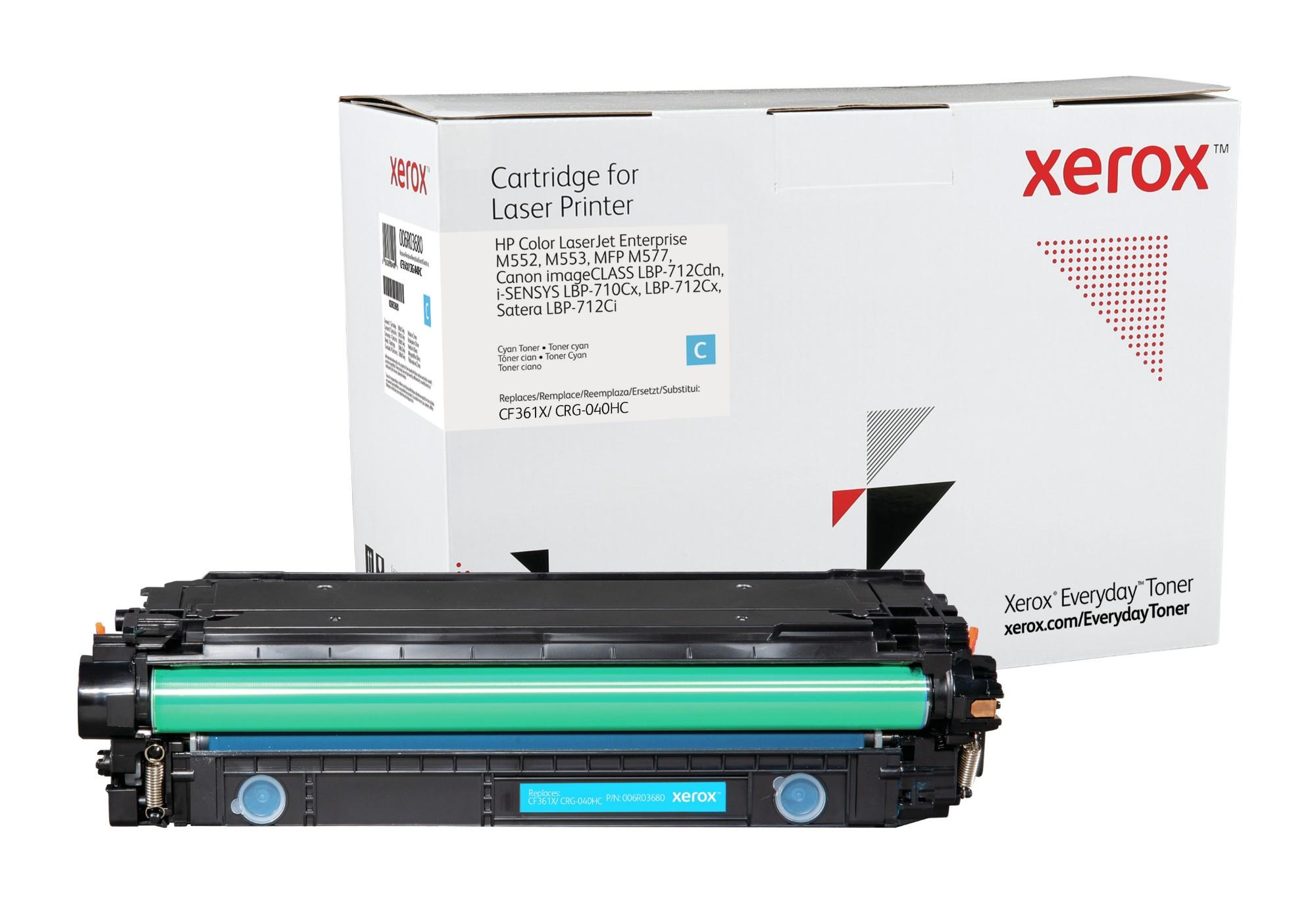 Xerox Tóner de Alto rendimiento Cian Everyday, HP CF361X/ CRG-040HC equivalente de , 9500 páginas