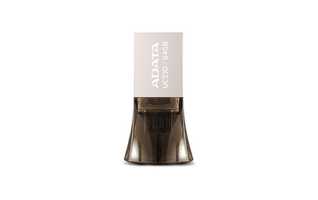 ADATA UC330 64GB USB 2.0 Type-A Black,Silver USB flash drive