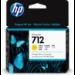 HP Cartucho de Tinta DesignJet 712 amarillo de 29 ml