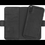 eSTUFF iPhone X/Xs Leather Wallet mobile phone case Wallet case Black