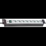 "Brennenstuhl Premium-Line 19"" 8AC outlet(s) 3m Black,Grey power extension"