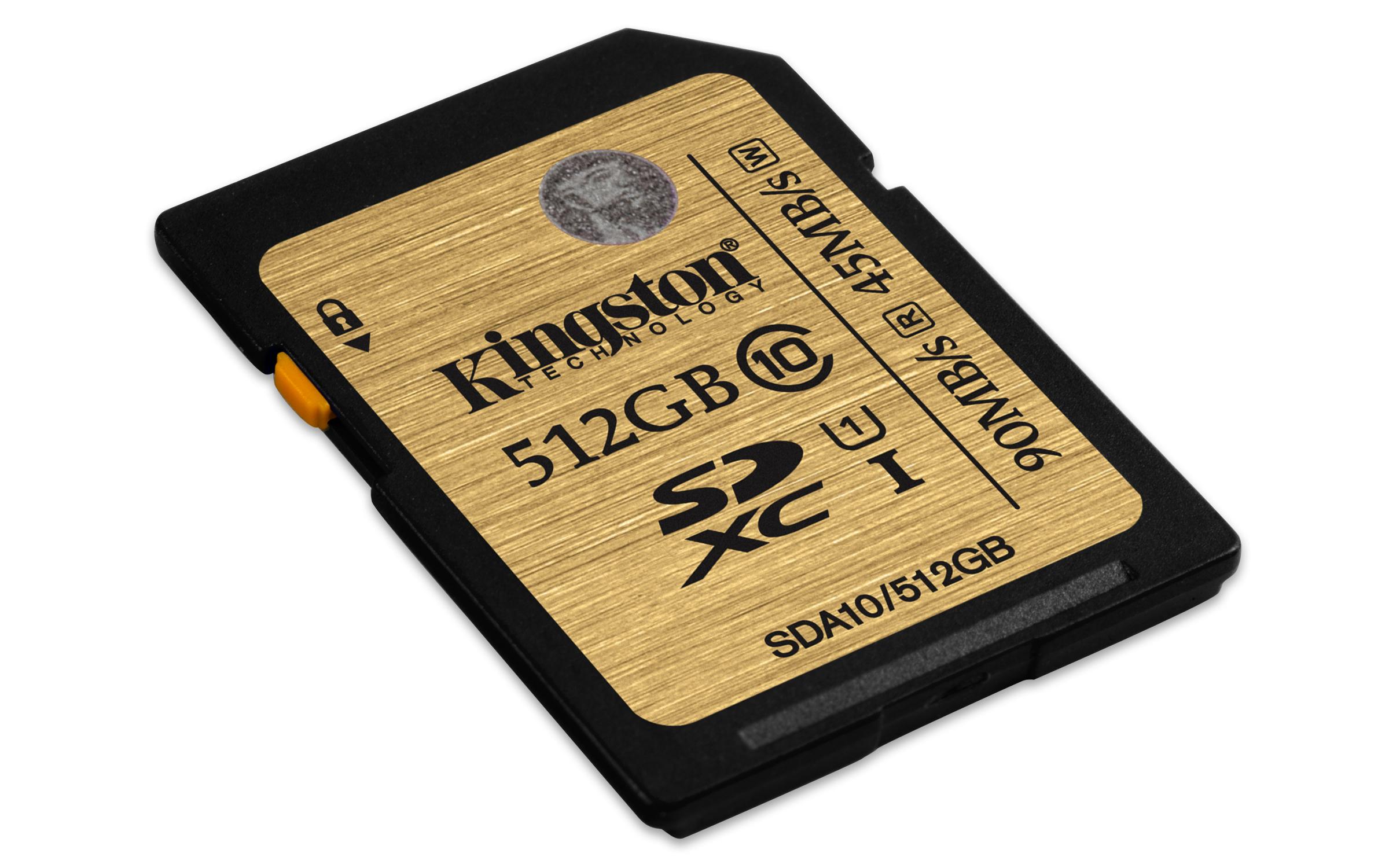 Kingston Technology 512GB SDXC UHS-I Class 10 512GB SDXC UHS-I Class 10 memory card