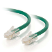C2G Cable de conexión de red de 0,5 m Cat5e sin blindaje y sin funda (UTP), color verde