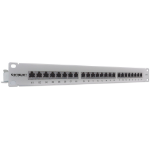 Intellinet , Cat6, FTP, 24-Port, 1U, Shielded, 90° Top-Entry Punch-Down Blocks, Grey