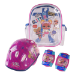 MGA Entertainment Children's Helmet, Knee, Elbow Protection Set with Carry Bag, Girl, Ages Three Years and Above, Mult