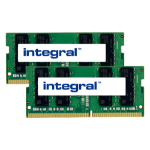 Integral 32GB (2X16GB) Laptop RAM Module DDR4 2400MHZ UNBUFFERED SODIMM KIT OF 2 EQV. TO CT2K16G4SFD824A FOR CRUCIAL memory module