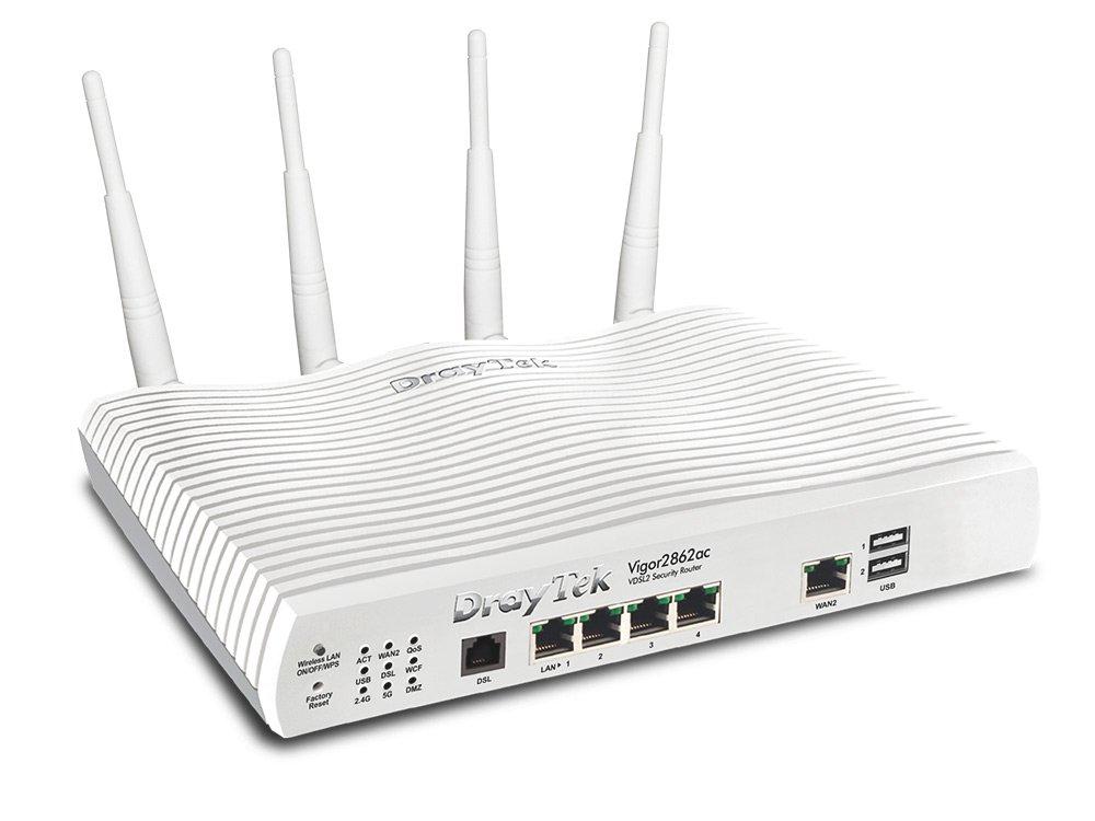 Draytek Vigor 2862ac wireless router Dual-band (2.4 GHz / 5 GHz) Gigabit Ethernet White