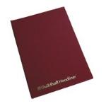 Guildhall Headliner Account Book Casebound 298x203mm 10 Cash Columns 80 Pages Red 38/110Z
