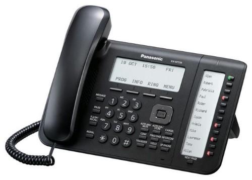 Panasonic KX-NT556X-B IP phone Black Wired handset LCD