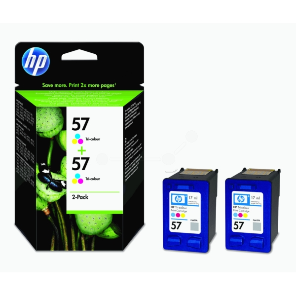 HP C9503AE (57) Printhead color, 500 pages, 17ml, Pack qty 2