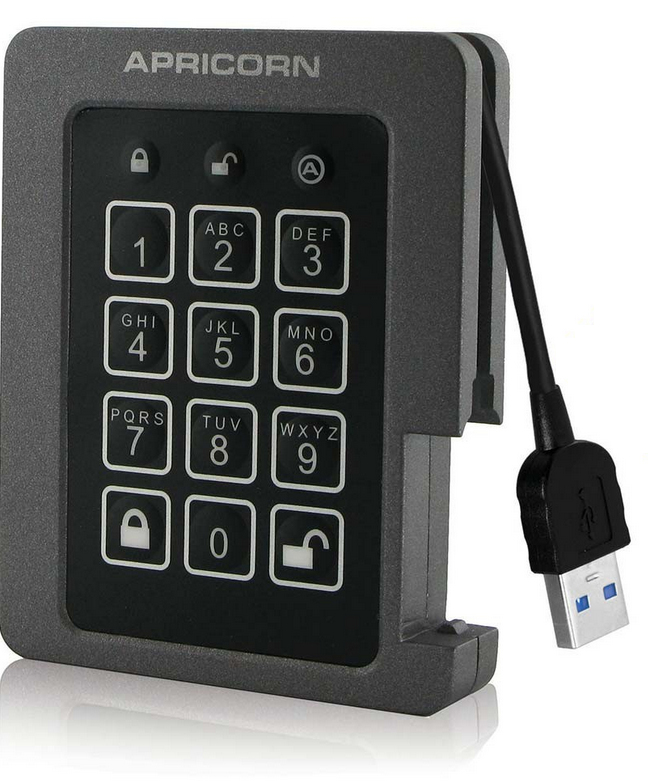 Padlock USB SSD 120GB Encrypted FIPS Ruggedized
