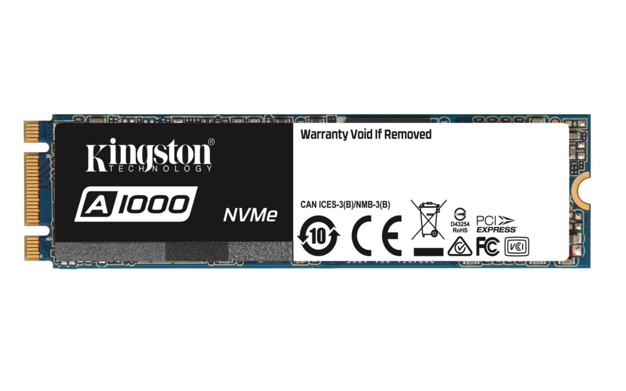 Kingston Technology A1000 M.2 960 GB PCI Express 3D TLC NVMe